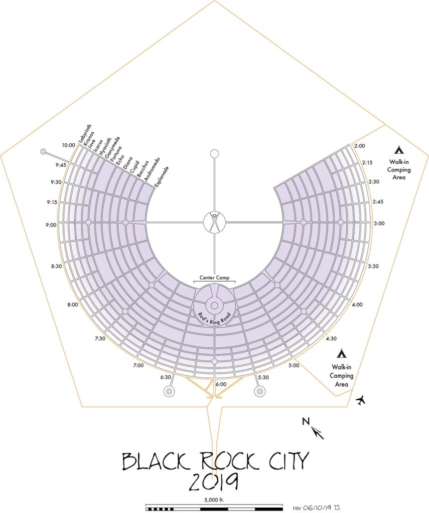 2019 Black Rock City Stadtplan