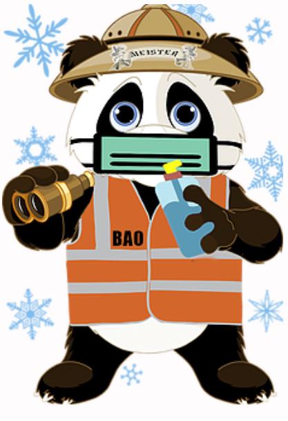 Bao Vest Panda mit Mundschutz